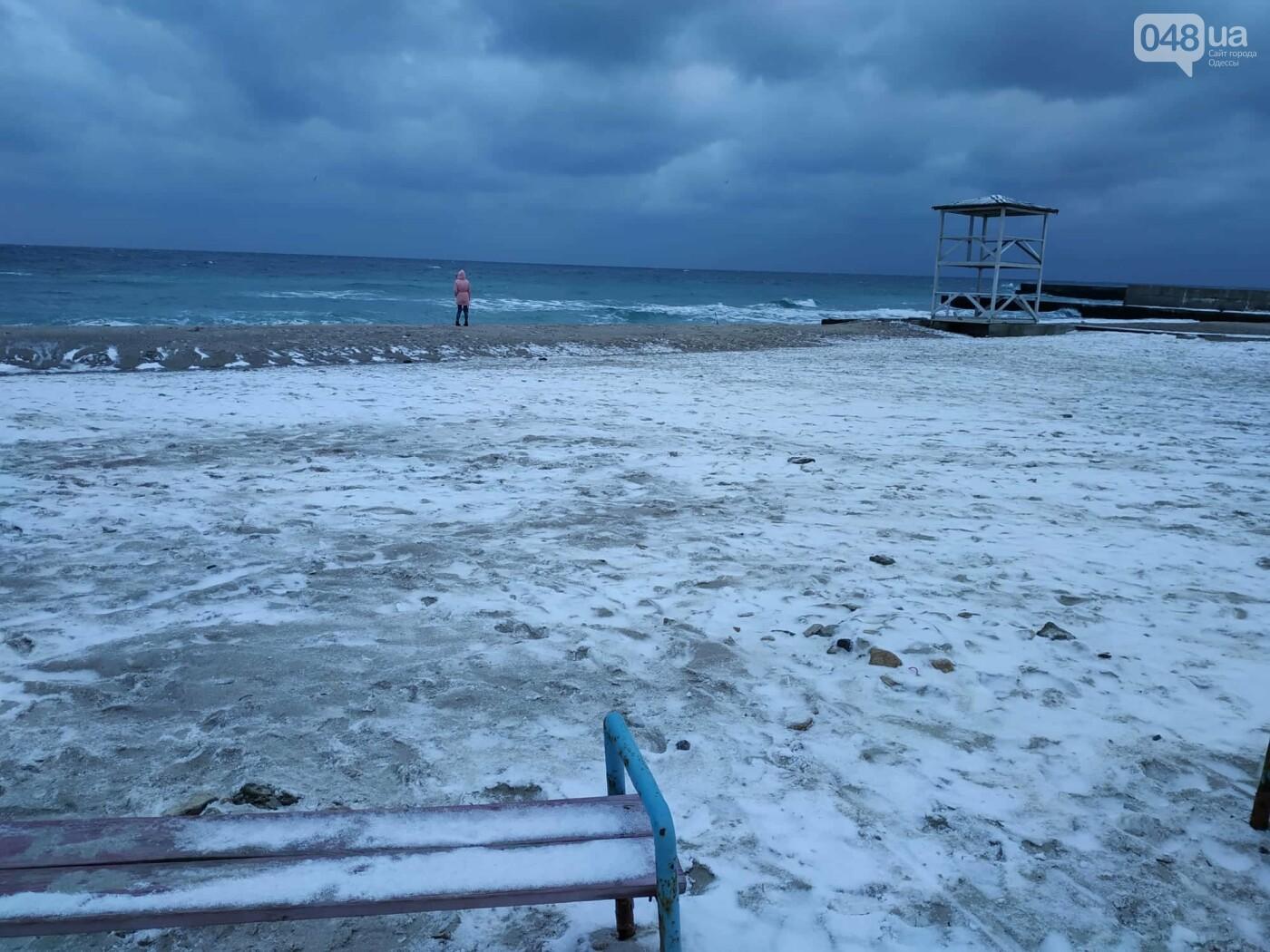 Заснеженные одесские пляжи вечером: вот где стоит прогуляться, - ФОТО, фото-75