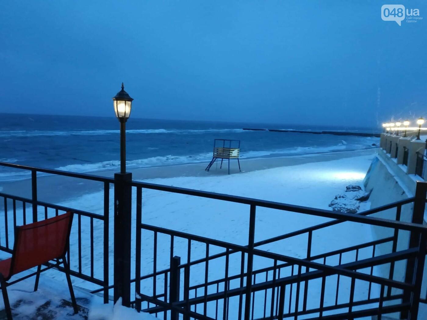 Заснеженные одесские пляжи вечером: вот где стоит прогуляться, - ФОТО, фото-34