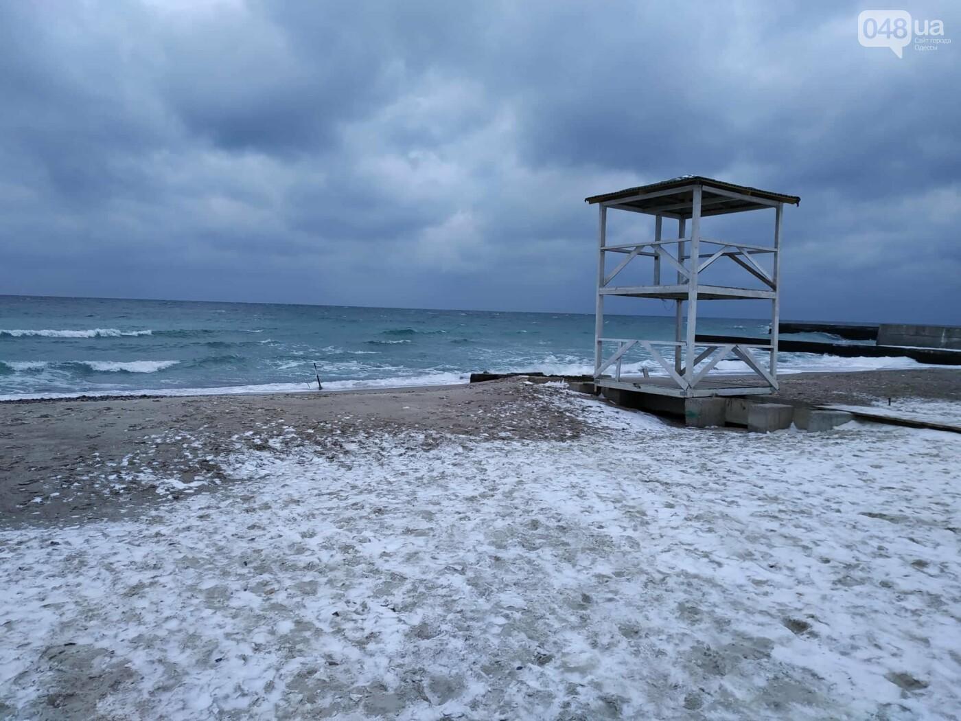 Заснеженные одесские пляжи вечером: вот где стоит прогуляться, - ФОТО, фото-59