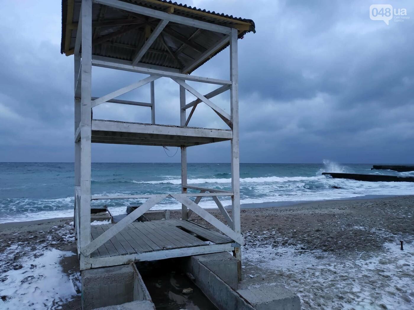 Заснеженные одесские пляжи вечером: вот где стоит прогуляться, - ФОТО, фото-60
