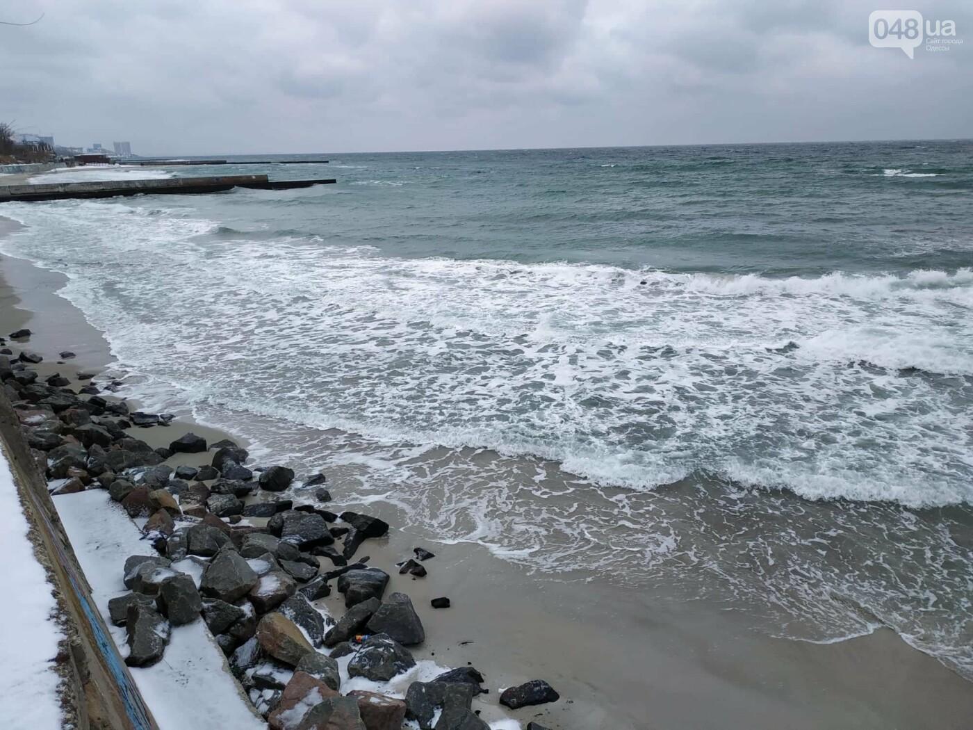 Заснеженные одесские пляжи вечером: вот где стоит прогуляться, - ФОТО, фото-77