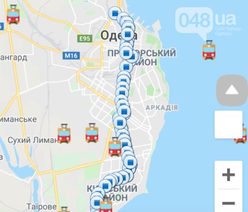 Трамваи в Одессе плавают в море: новый сайт мониторинга транспорта работает с перебоями, фото-4