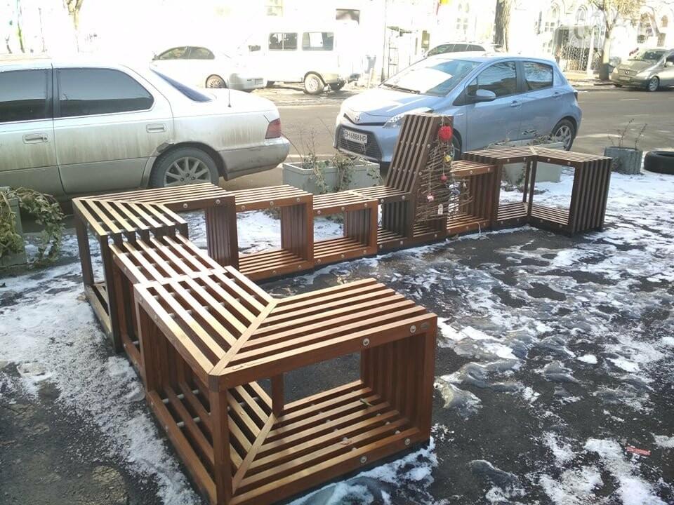 Одесский парклет зимует в целости, но в одиночестве, - ФОТО, фото-4