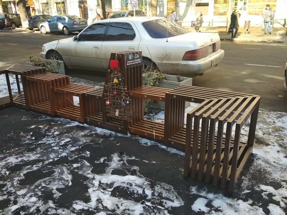 Одесский парклет зимует в целости, но в одиночестве, - ФОТО, фото-1