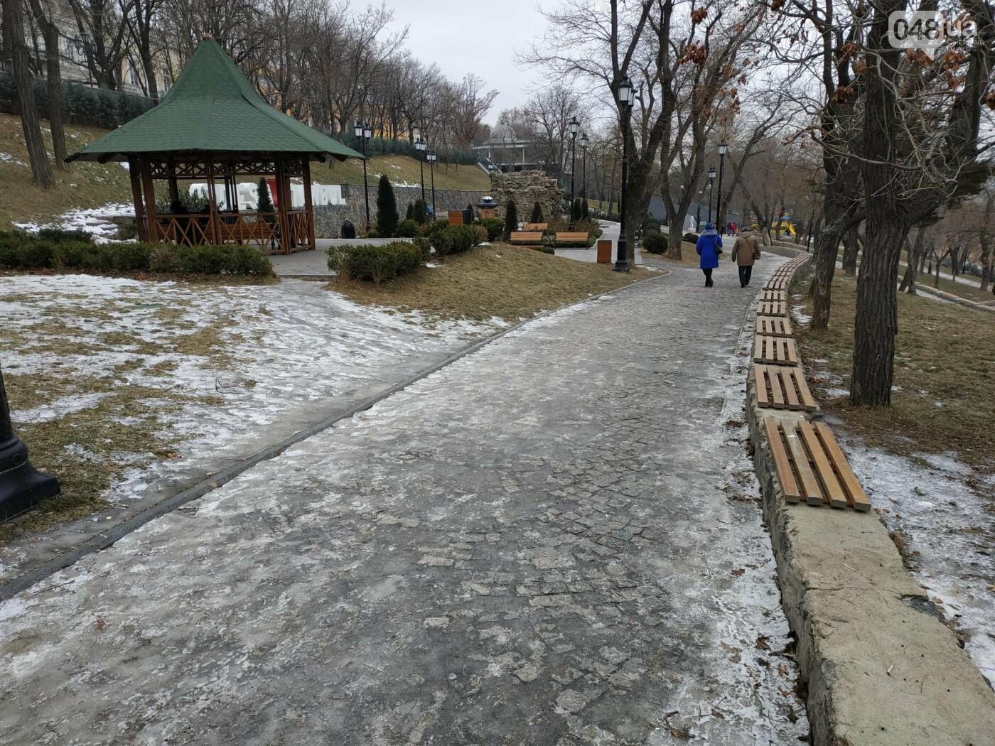 Куда не пойти в Одессе: дорожки Стамбульского парка покрыты льдом, - ФОТО, ВИДЕО, фото-4