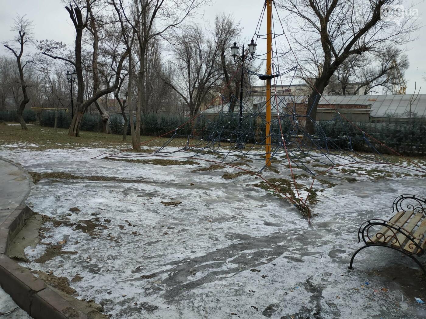 Куда не пойти в Одессе: дорожки Стамбульского парка покрыты льдом, - ФОТО, ВИДЕО, фото-6