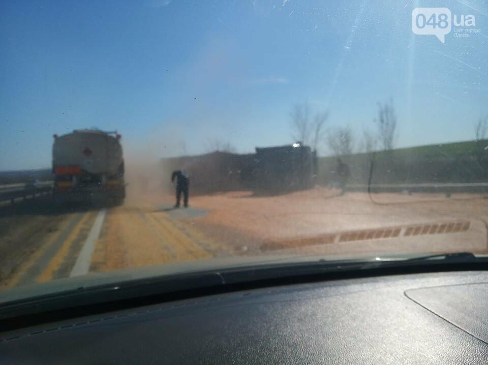 На трассе Одесса-Киев перевернулся зерновоз, - ФОТОФАКТ, фото-3