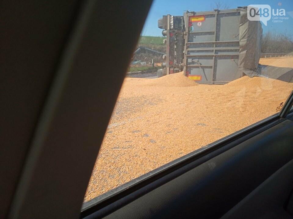 На трассе Одесса-Киев перевернулся зерновоз, - ФОТОФАКТ, фото-1