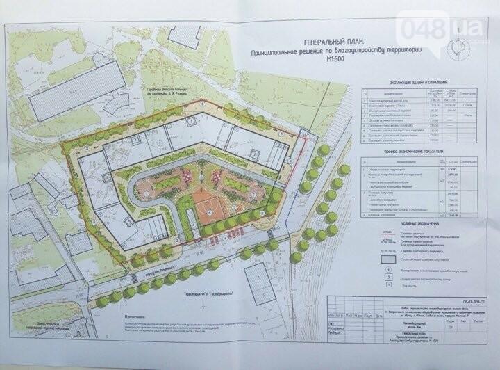 План застройки на Маячном переулке
