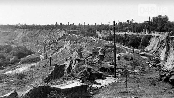 Оползень на одесских склонах в 60-х годах