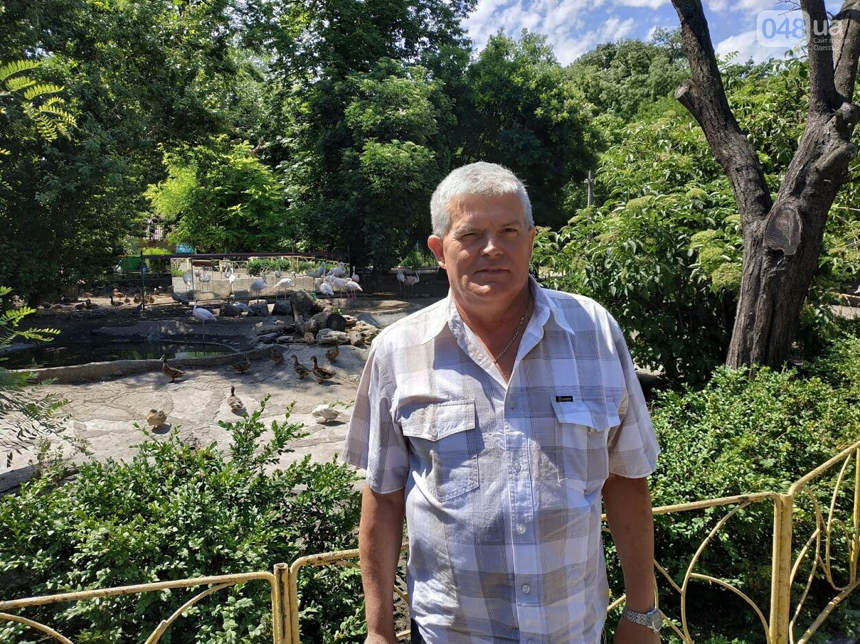 Директор Одесского зоопарка Игорь Беляков - Корреспондент 048.ua Александр Жирносенко