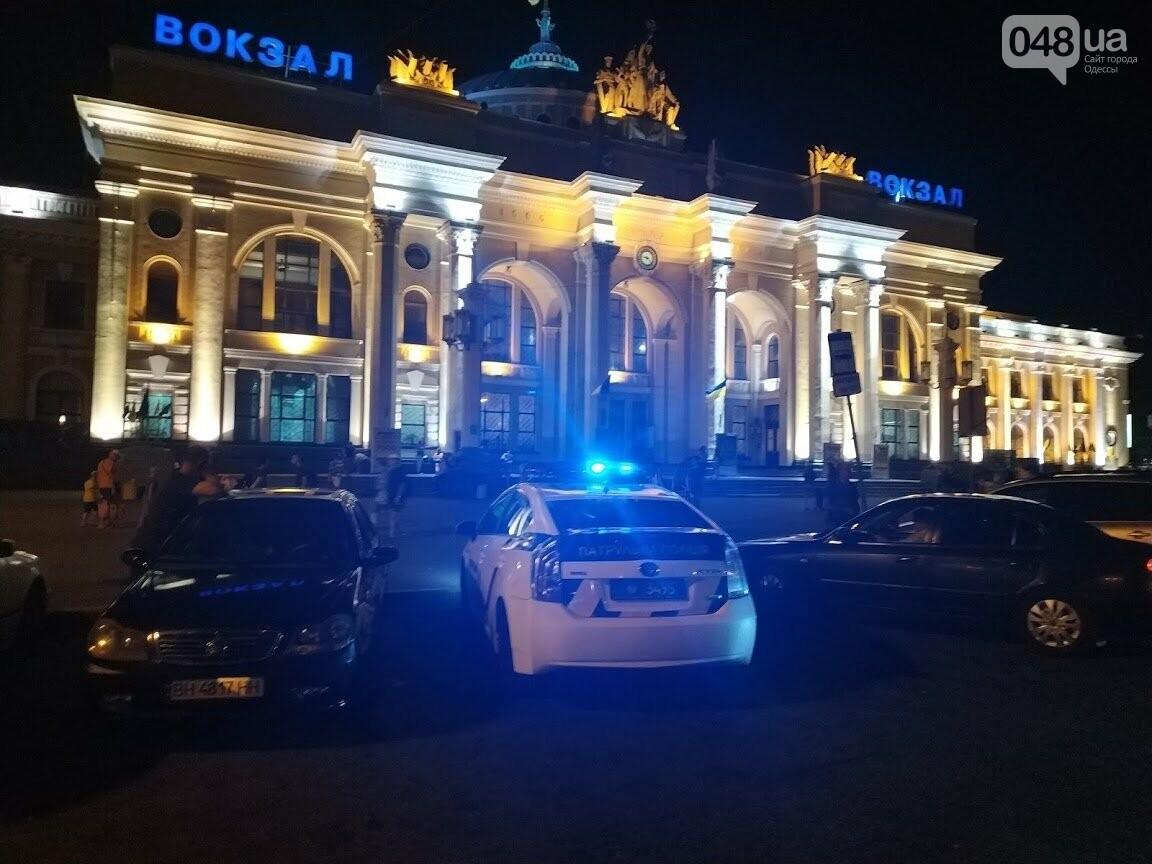 Ночное ДТП возле Одесского железнодорожного вокзала