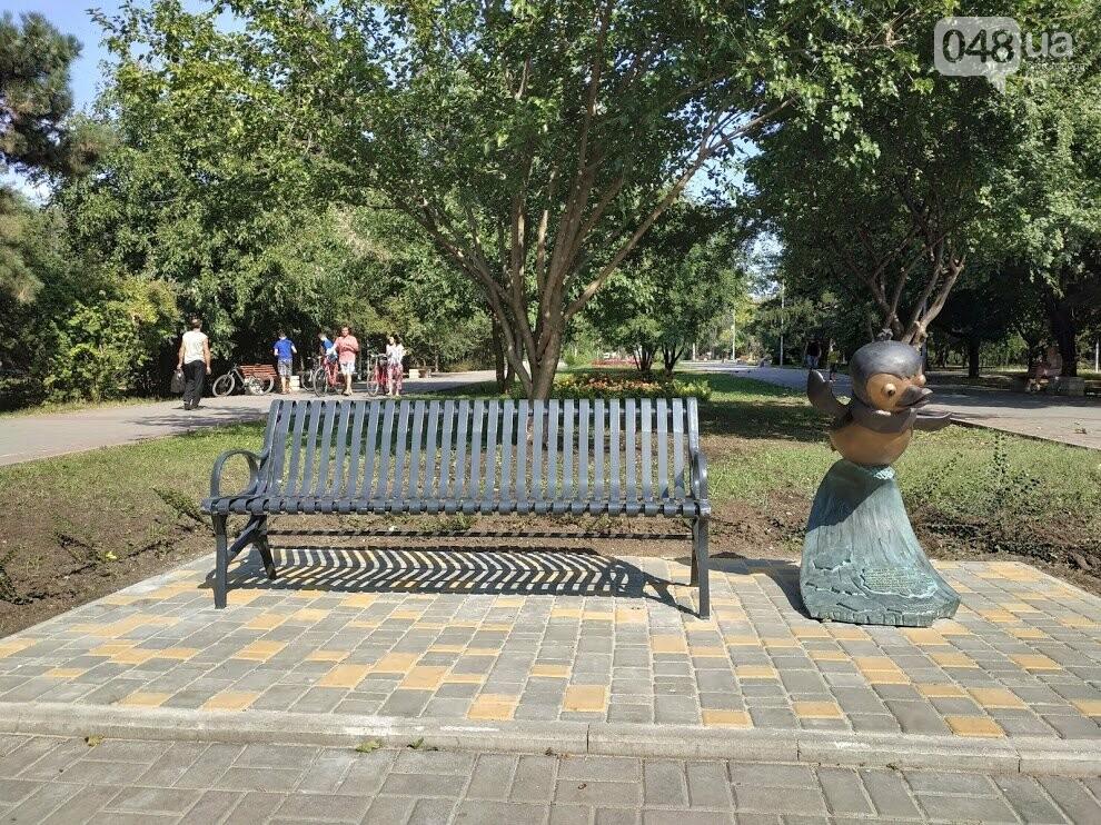 Арт-объект пингвин Пик-Пок в парке Победы