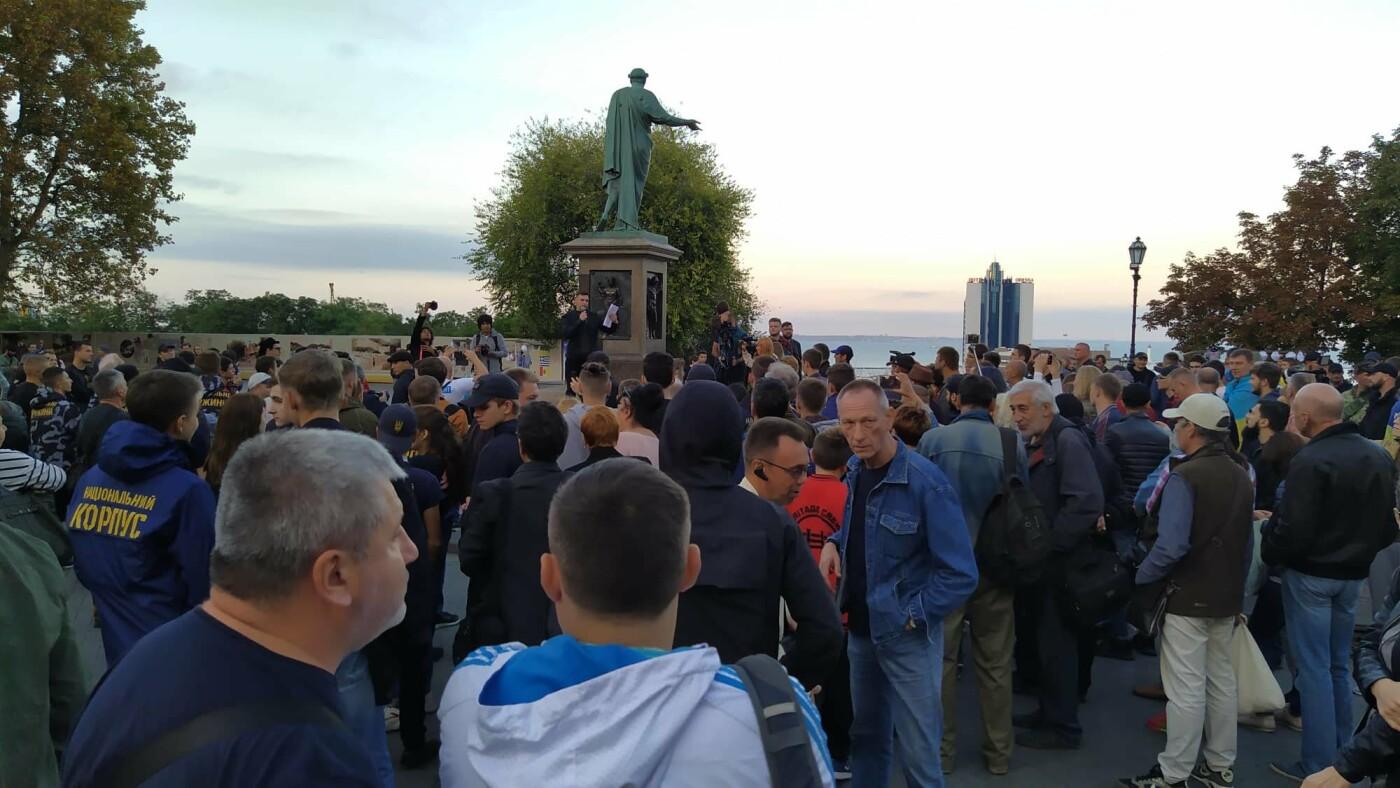 Против подписания «формулы Штайнмайера» протестовали сотни одесситов, - ФОТО, ВИДЕО, фото-20