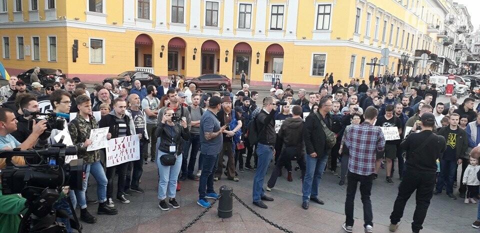 Против подписания «формулы Штайнмайера» протестовали сотни одесситов, - ФОТО, ВИДЕО, фото-4
