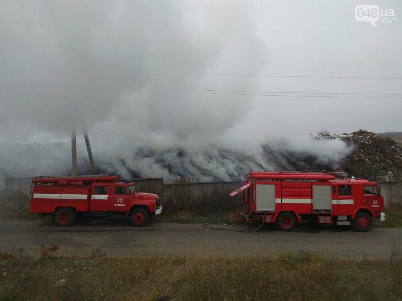 Под Одессой горела мусорная свалка, - ФОТО, фото-1