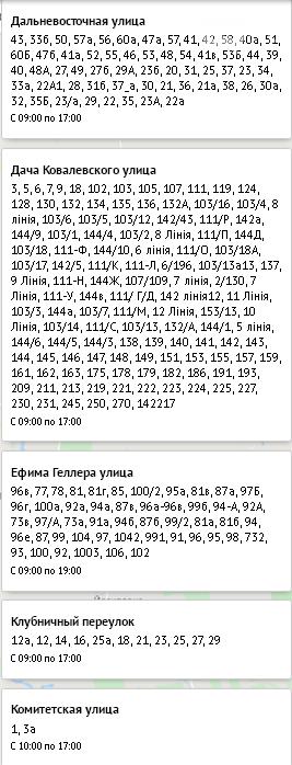 Плановое отключение света в Одессе, 5 ноября