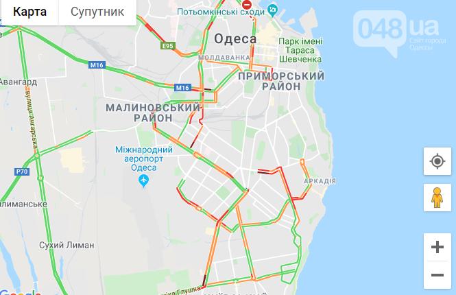 Пробки в Одессе: куда сегодня лучше не ехать, - ФОТО, фото-1