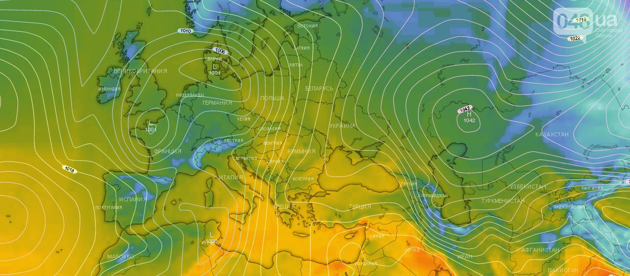 Точный прогноз погоды в Одессе сегодня, 16 ноября