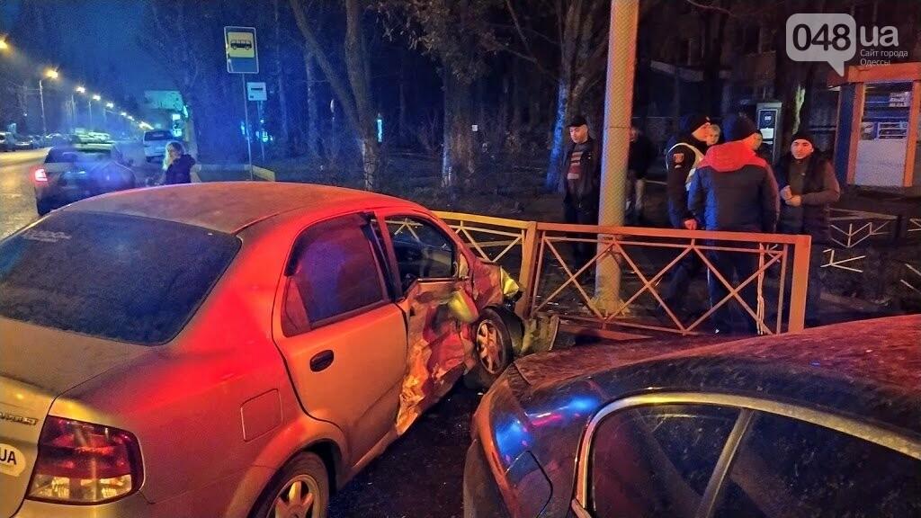 Ночная Авария на Ивана и Юрия Лип в Одессе.