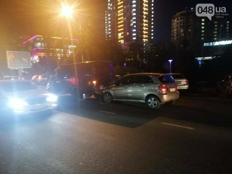 ДТП и пробка в Одессе: столкнулись Мерседес и Газель, - ФОТО, фото-2