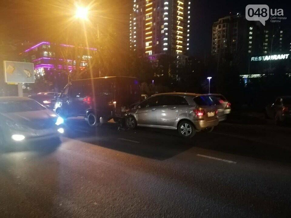 ДТП и пробка в Одессе: столкнулись Мерседес и Газель, - ФОТО, фото-3