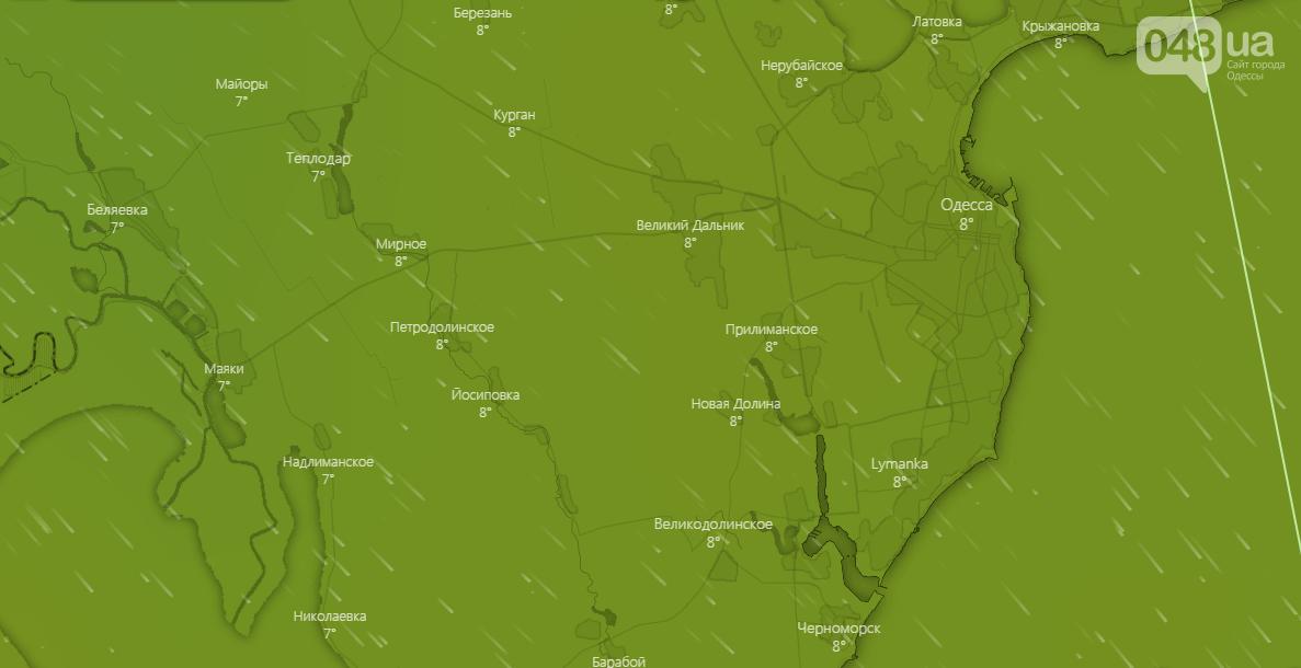 Прогноз погоды в Одессе сегодня, 8 декабря
