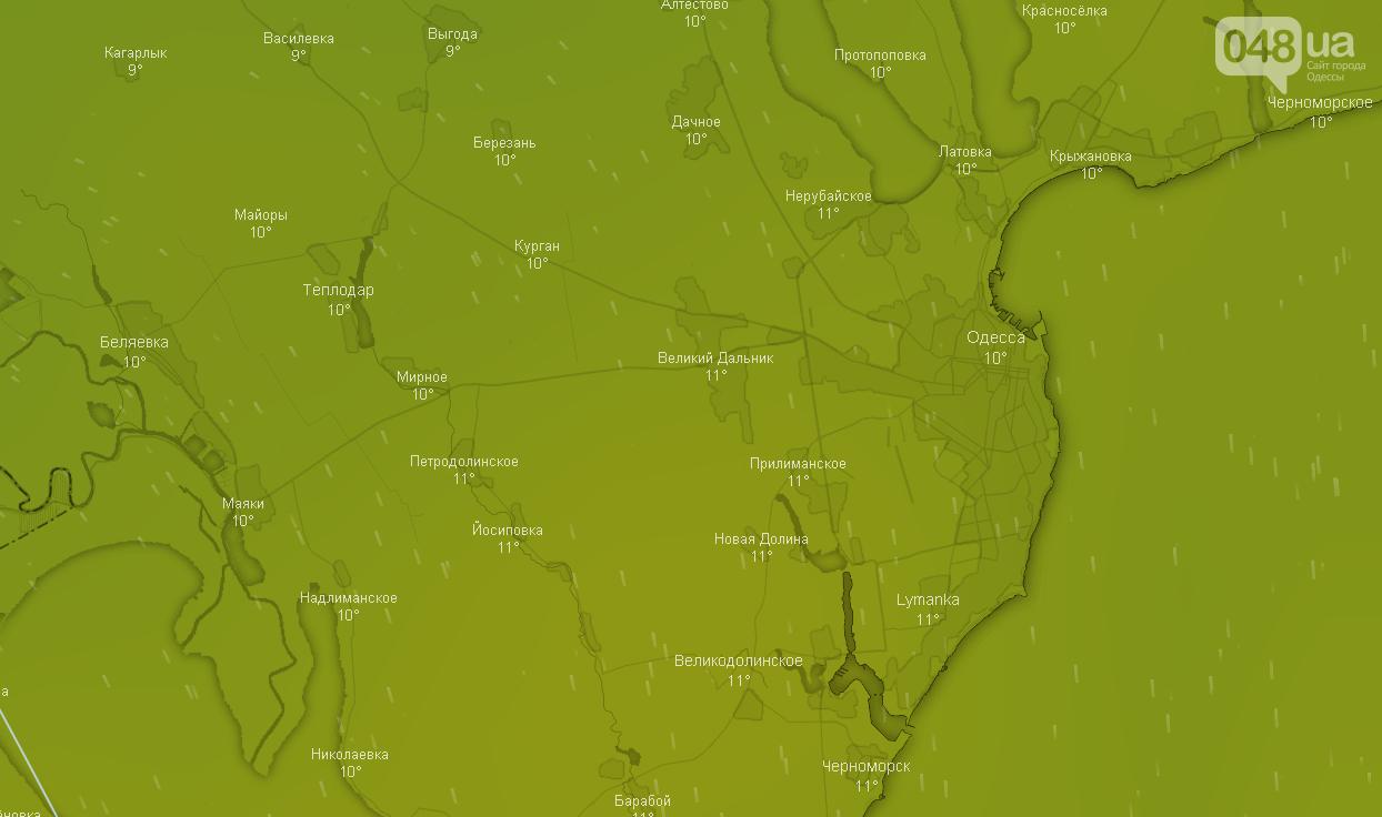 Точный прогноз погоды в Одессе на 19 ноября