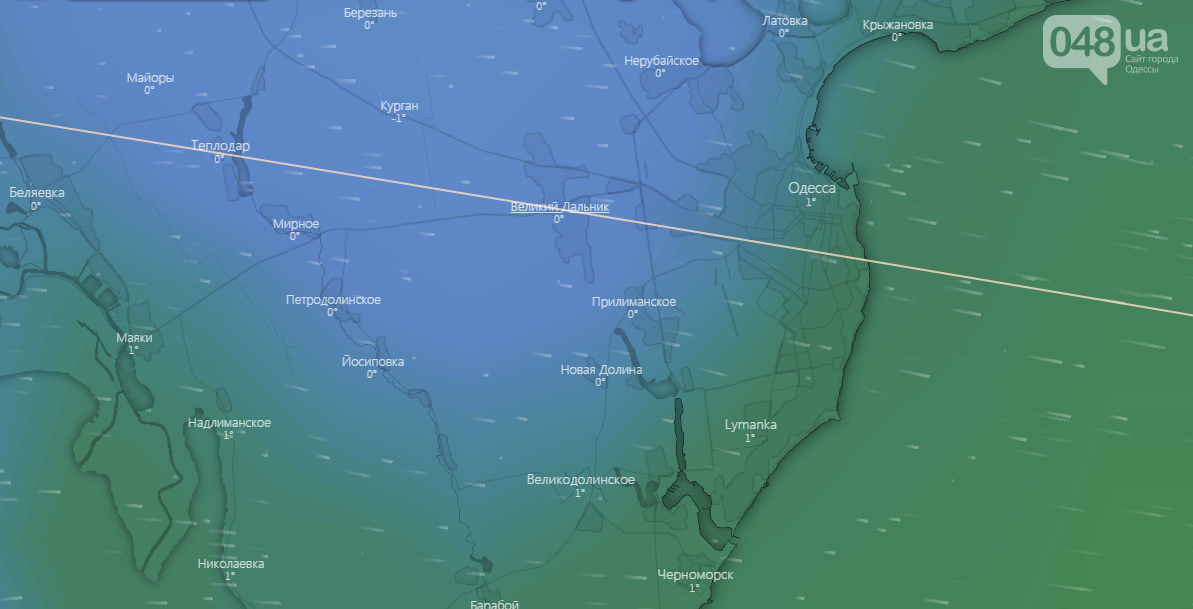 Погода в Одессе на 2 января - Windy.com
