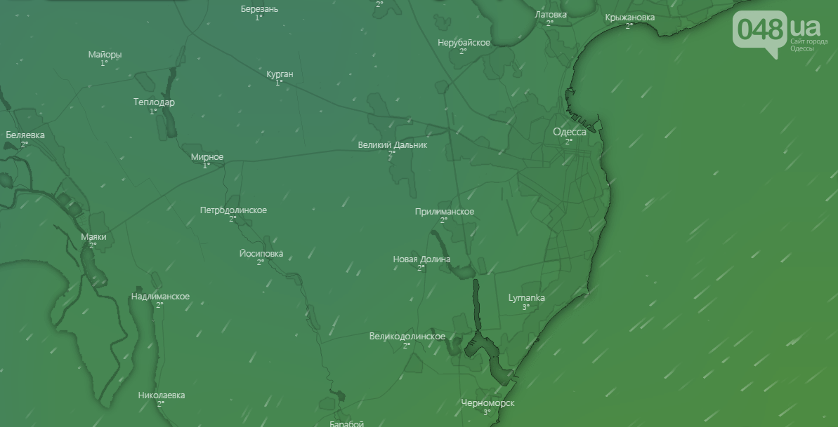 Погода в Одессе на 3 января - Windy.com