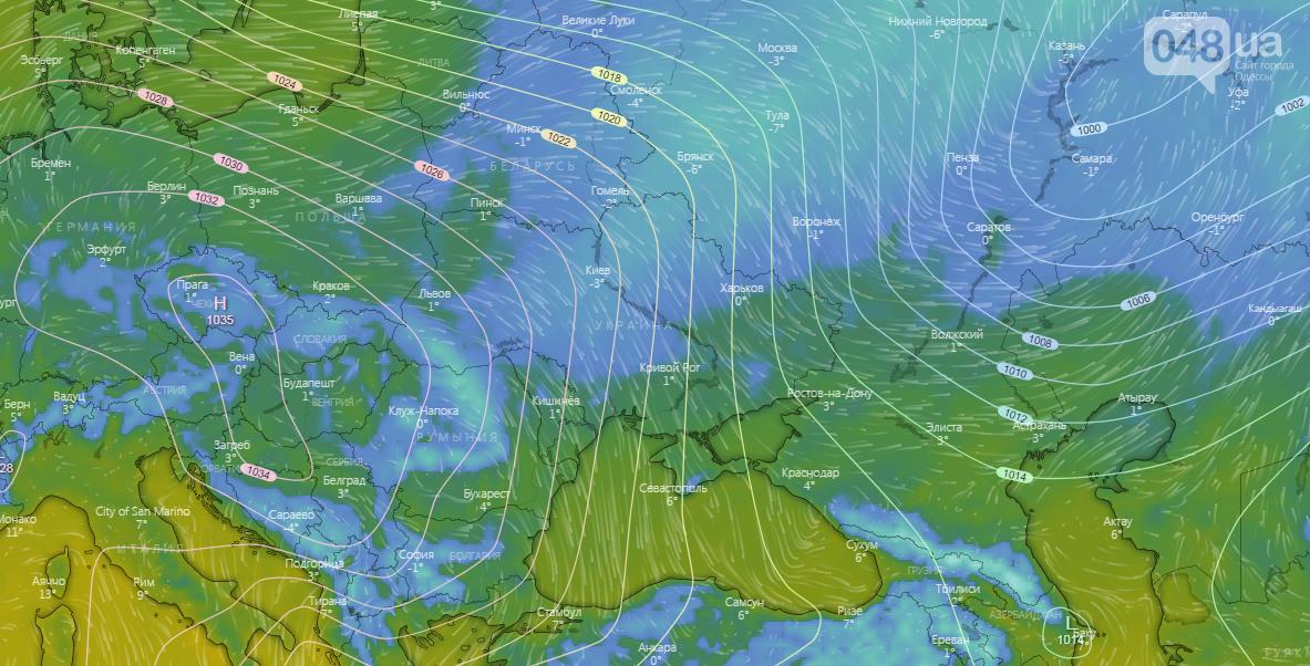 Погода в Одессе на Новый Год