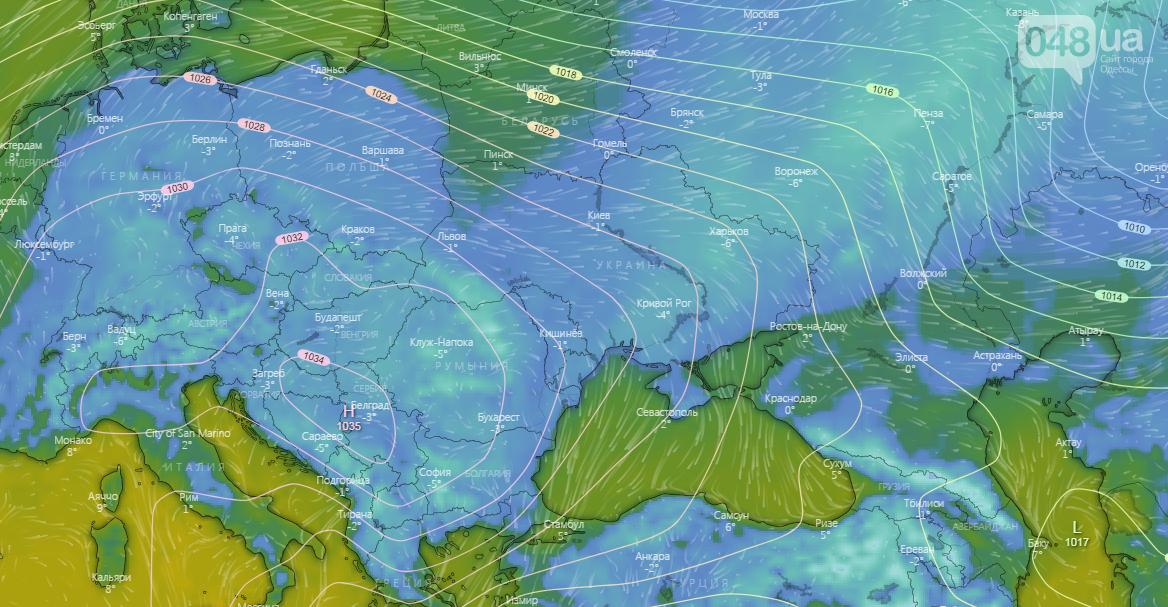 Погода в Одессе на 2 января