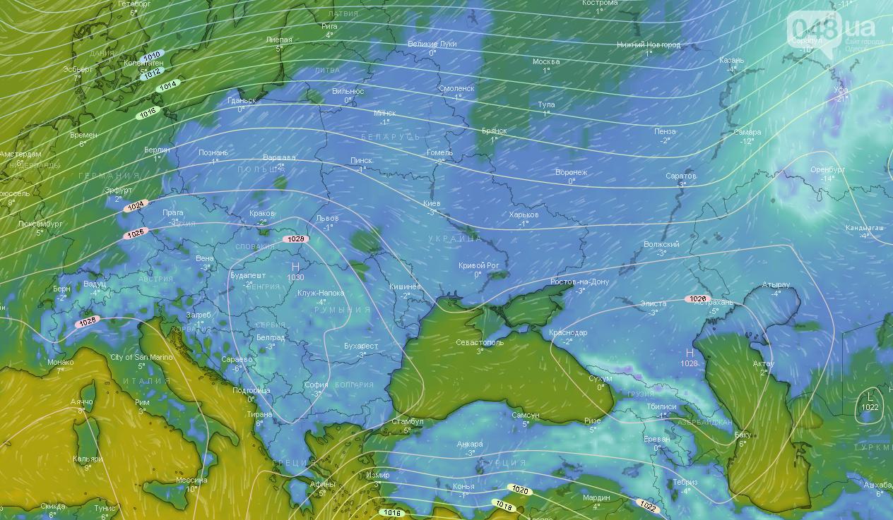 Погода в Одессе сегодня, 3 января.