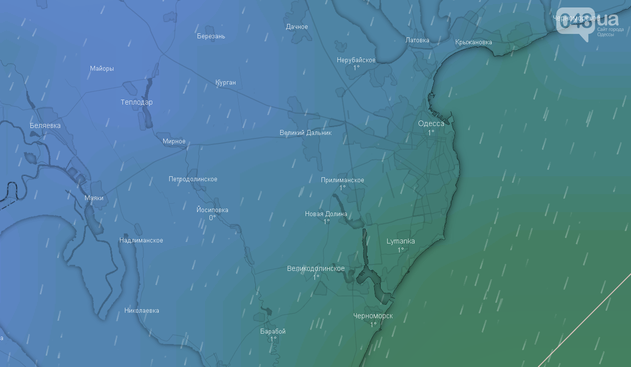 Погода в Одессе на Рождество, 7 января.