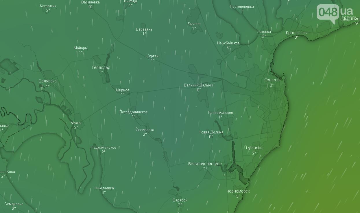 Погода в Одессе сегодня 10 января.