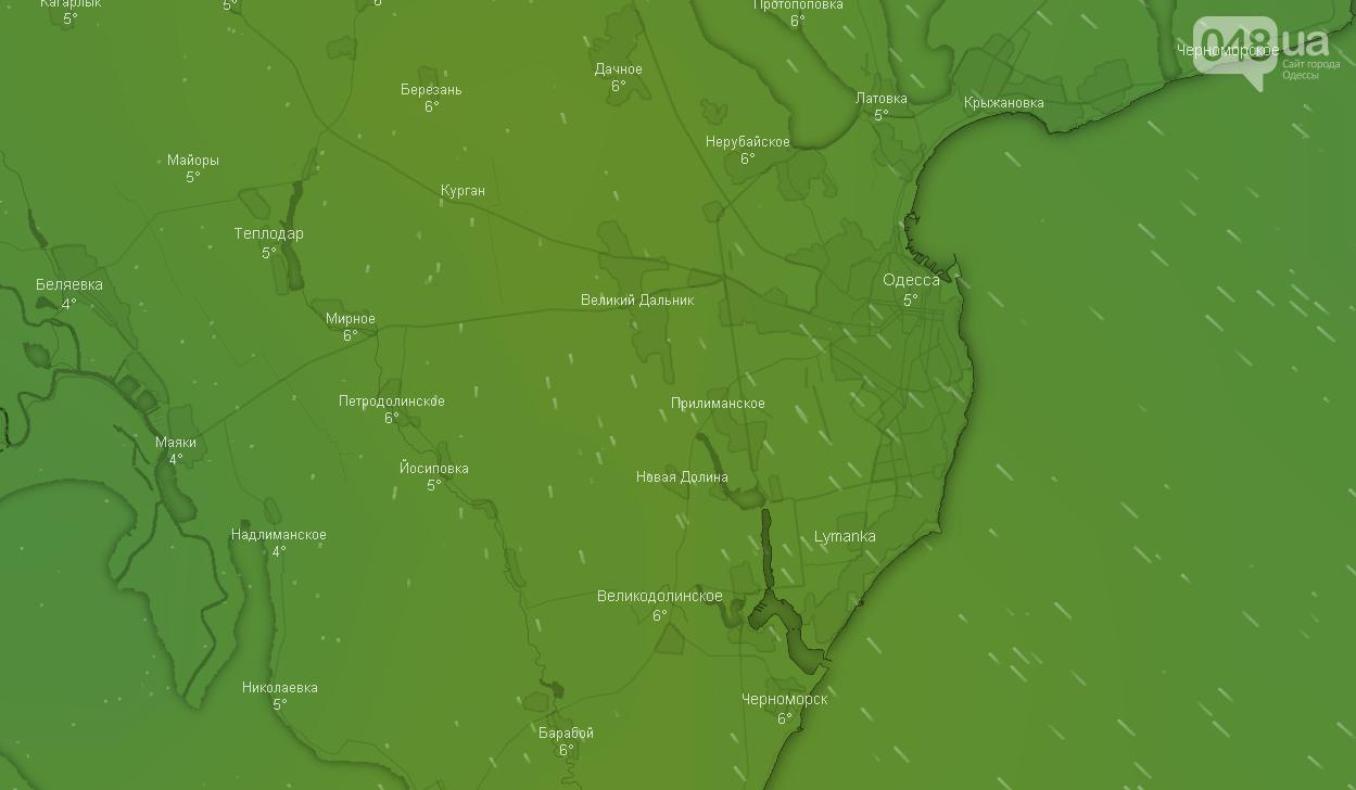 Погода в Одессе сегодня, 16 января.
