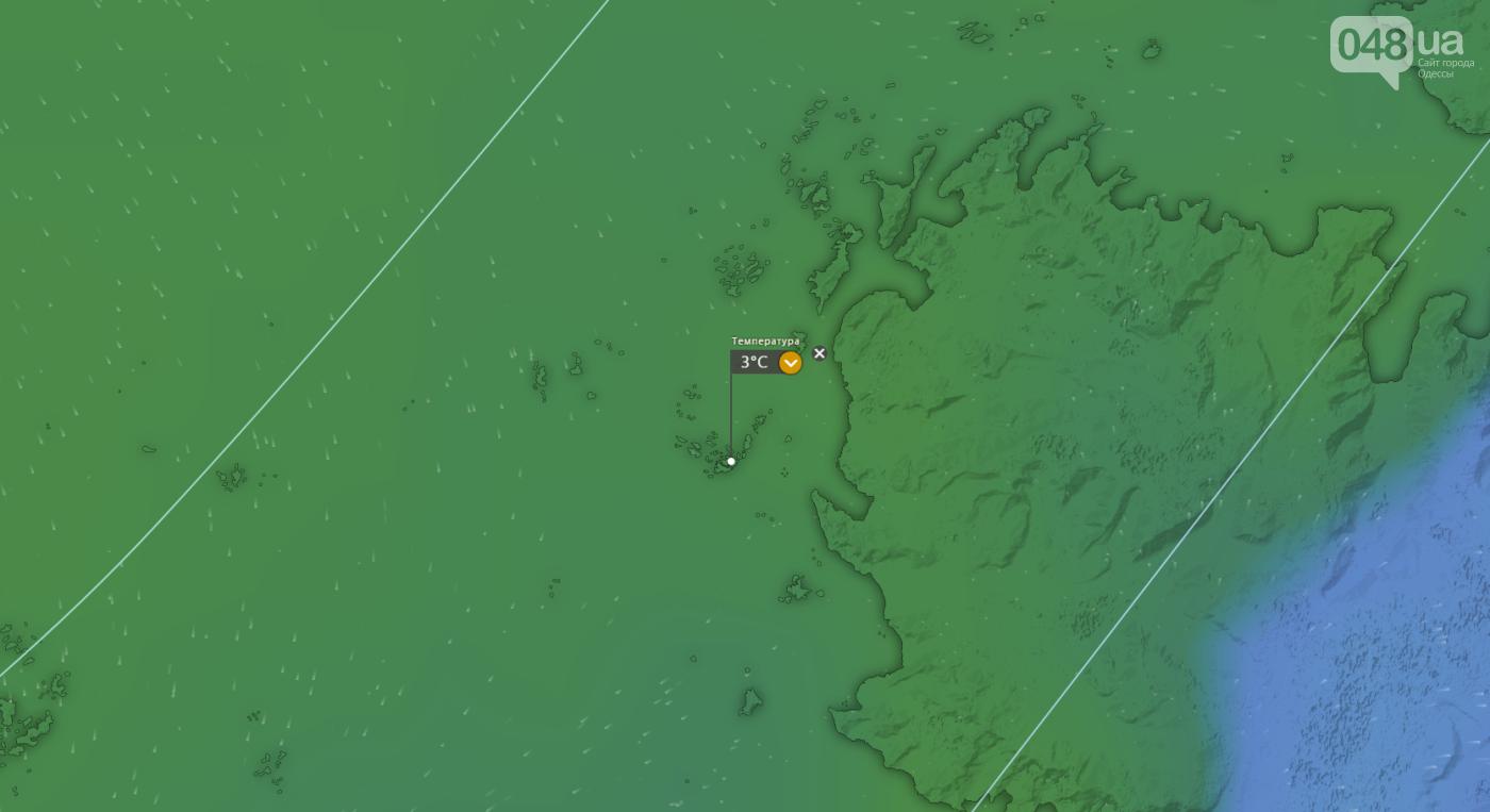 Погода на станции имени академика Вернадского в Антарктиде