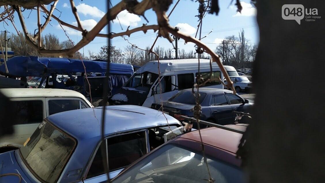 Последствия пожара на штрафплощадке в Одессе.
