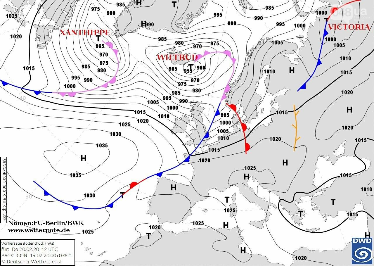 Циклон Вильтруд и Ксантипа в Европе