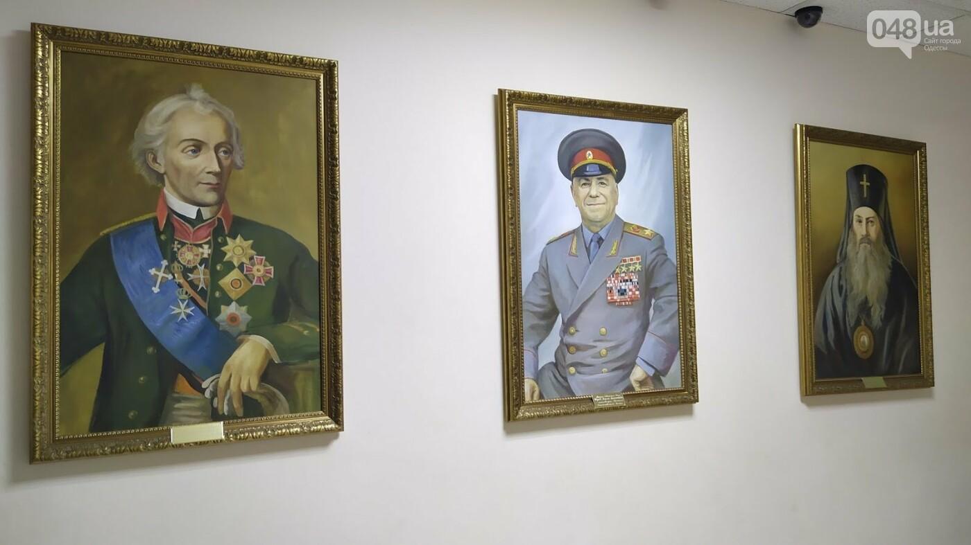 Портрет Георгия Жукова в  Одесской юридической академии.