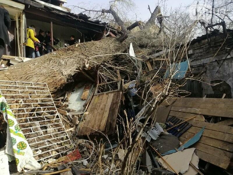 На Молдаванке дерево разрушило дом и заблокировало женщину, - ФОТО, ВИДЕО, ОБНОВЛЕНО , фото-5