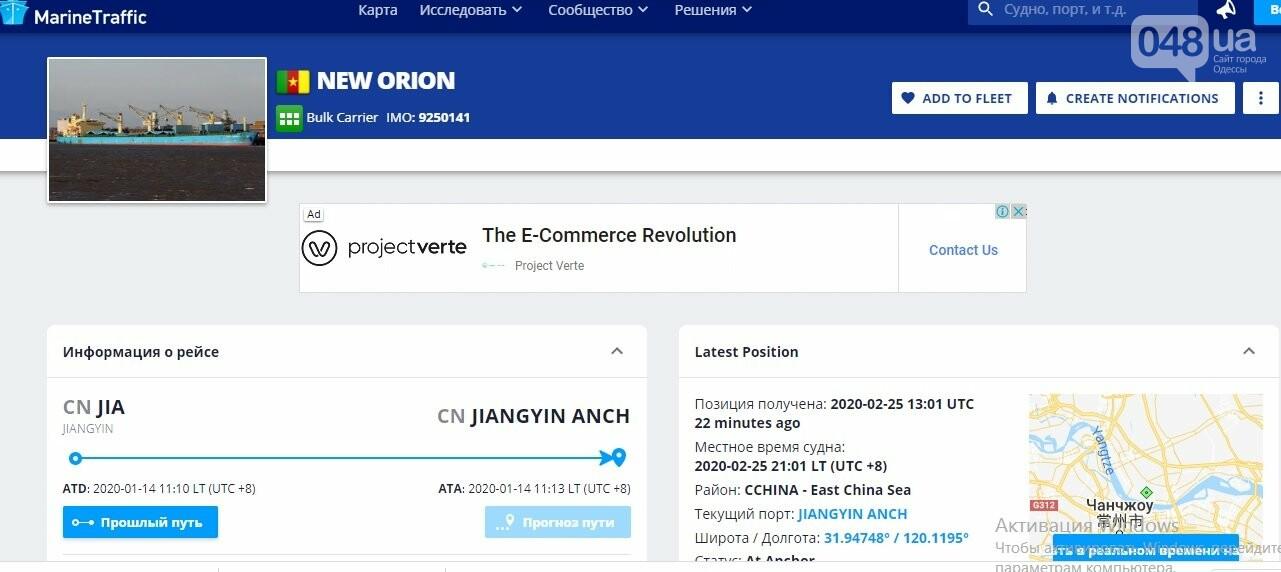 Местоположение New Orion на сайте АИС
