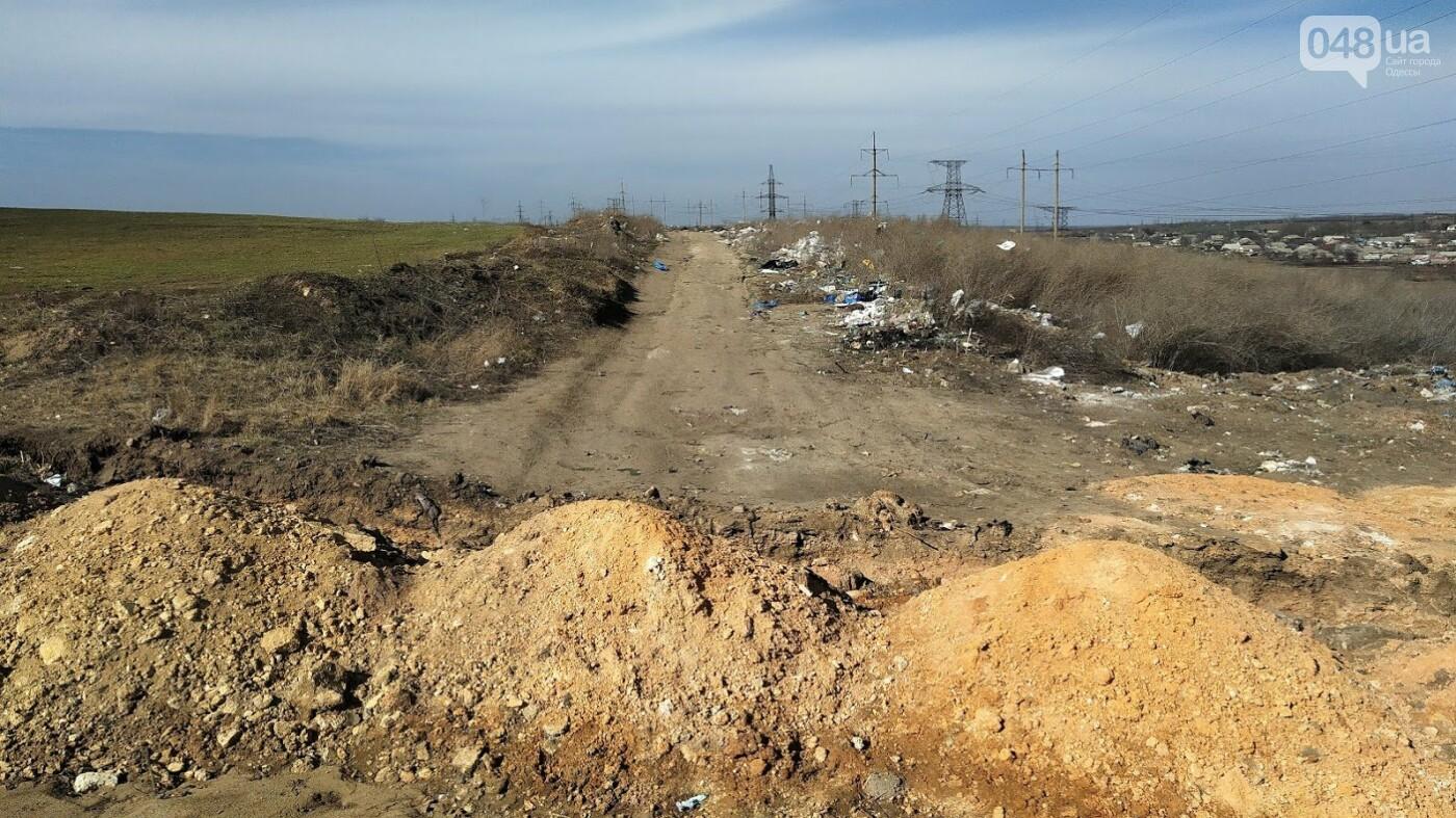 Не официальная свалка в селе Мирном, Одесская область  и поля рядом с ней.