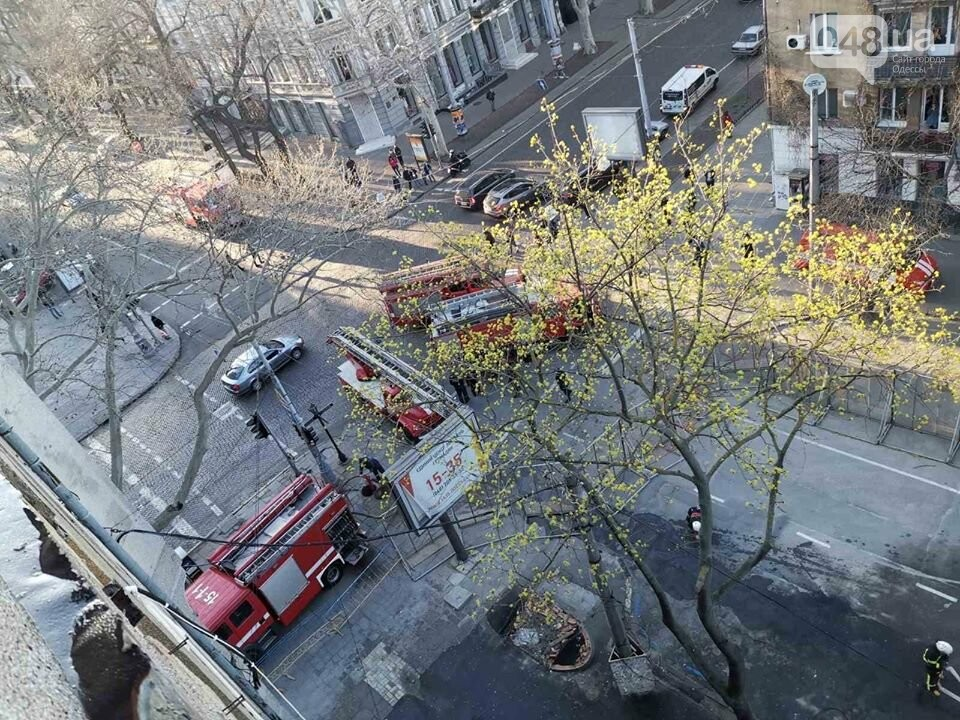 Пожар на Троицкой в Одессе, ГСЧС Украины в Одесской области.