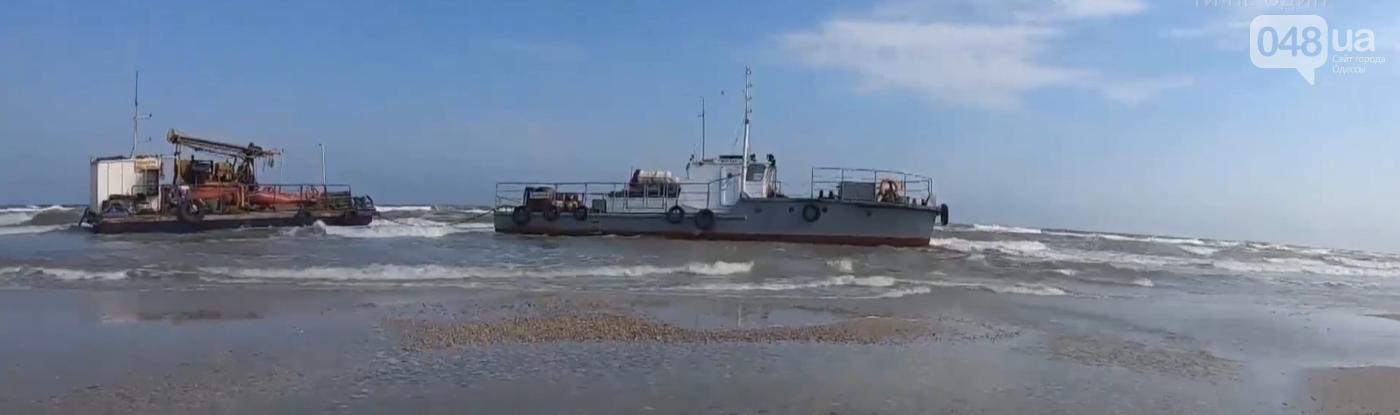 В Одесской области шторм выбросил на берег буксир с буровой платформой ,- ФОТО, фото-2