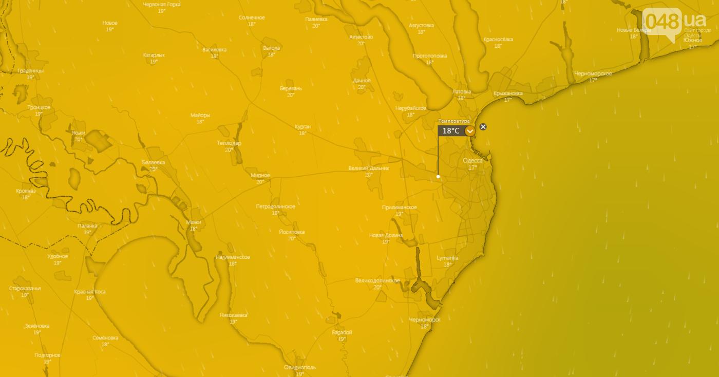 Погода в Одессе сегодня: прогноз на 16 мая, фото-2, Windy.com.
