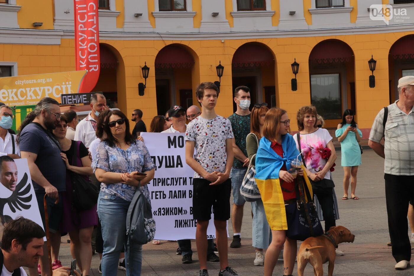 Около сотни одесситов пришли к Дюку поддержать украинский язык, - ФОТО, фото-7, Ольга Циктор