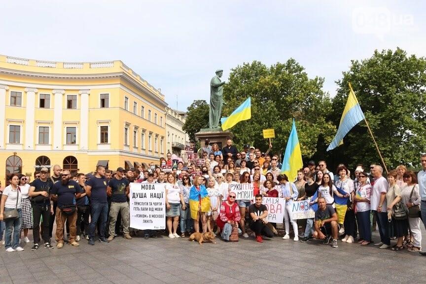 Около сотни одесситов пришли к Дюку поддержать украинский язык, - ФОТО, фото-17, Ольга Циктор