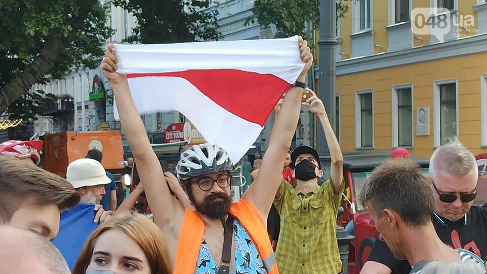 Одесситы вышли на митинг, чтобы поддержать протестующих в Беларуси,- ФОТО, ВИДЕО, фото-2