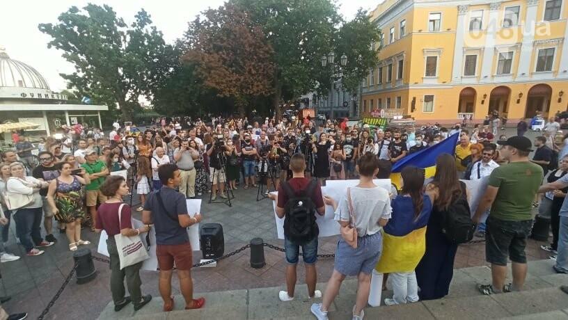 Одесситы вышли на митинг, чтобы поддержать протестующих в Беларуси,- ФОТО, ВИДЕО, фото-9
